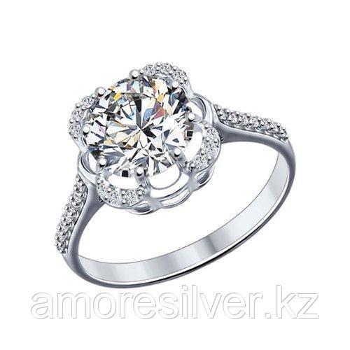 Кольцо из серебра с фианитами    SOKOLOV 94012026