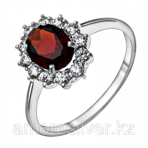 Кольцо из серебра с фианитом   Teosa 100-498-GR размеры - 17,5 18,5