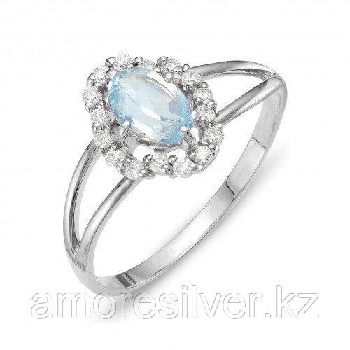 Кольцо из серебра с топазом и фианитом    Teosa К620-1584Т размеры - 16,5