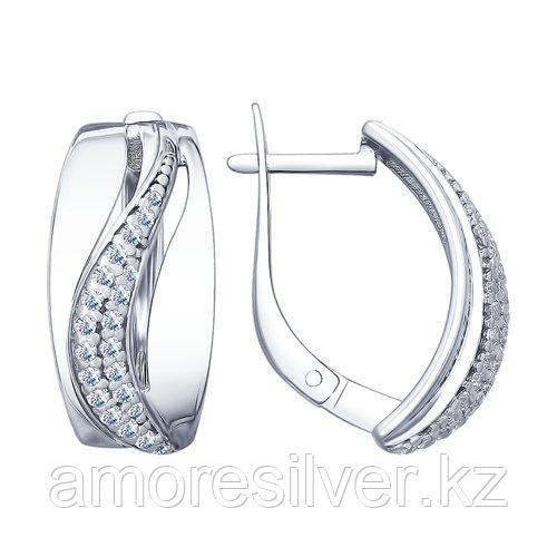 Серьги из серебра с фианитами    SOKOLOV 94022651