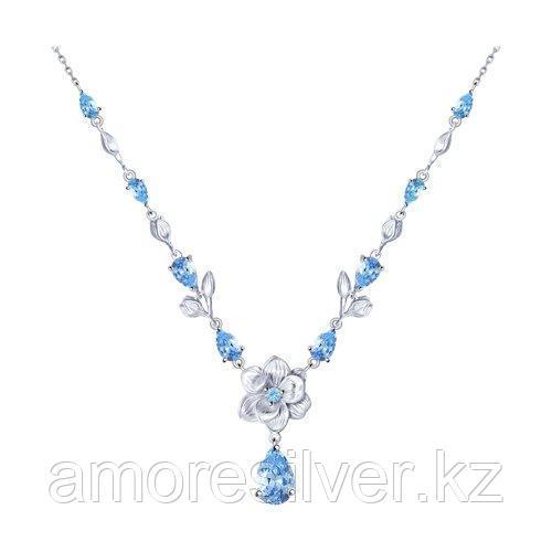 Колье из серебра с фианитами    SOKOLOV 94070213