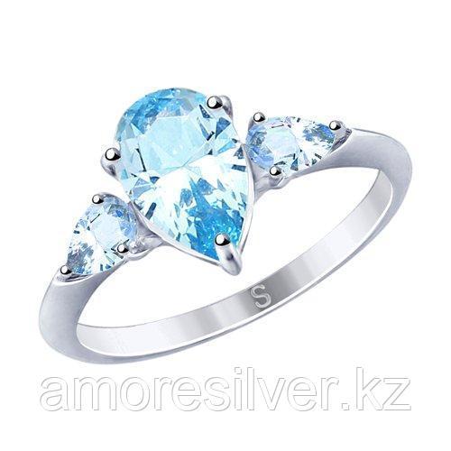 Кольцо из серебра с фианитами    SOKOLOV 94012749