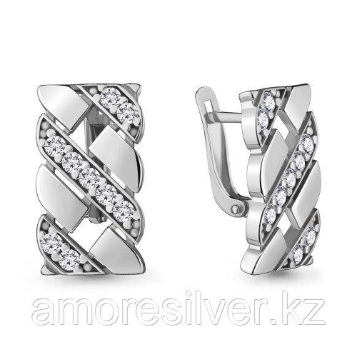 Серебряные серьги с фианитом   Aquamarine 48089А.5