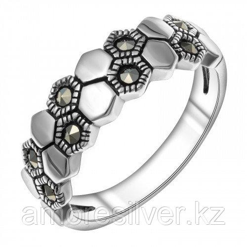 Серебряное кольцо с марказитом   Teosa HR-1591-MAC размеры - 17,5