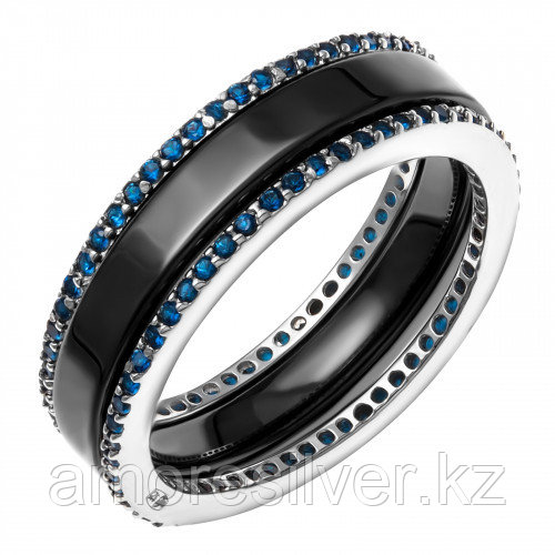 Серебряное кольцо с керамикой    Teosa CR-2488-B размеры - 18