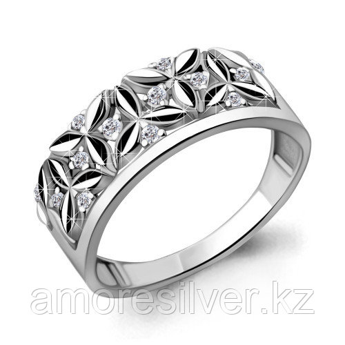 Кольцо Aquamarine серебро с родием, фианит, фантазия 68637А.5