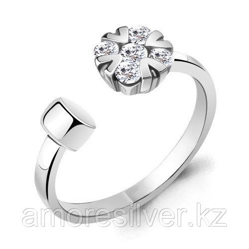 Кольцо Aquamarine серебро с родием, фианит, фантазия 68623А.5