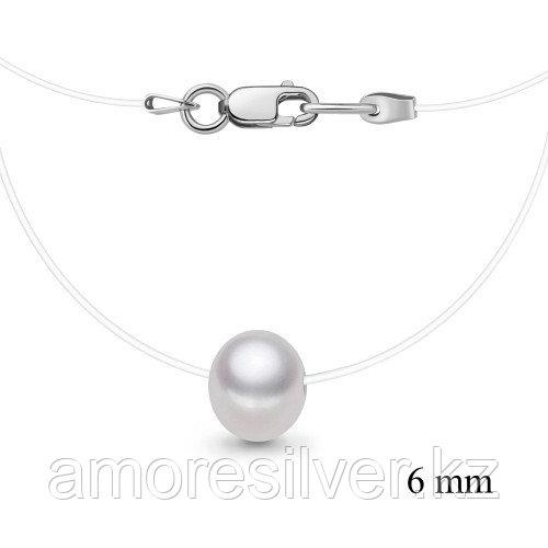Колье Aquamarine серебро с родием, жемчуг культ.,  73609.5