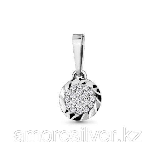 Подвеска Aquamarine серебро с родием, фианит, фантазия 21206А.5