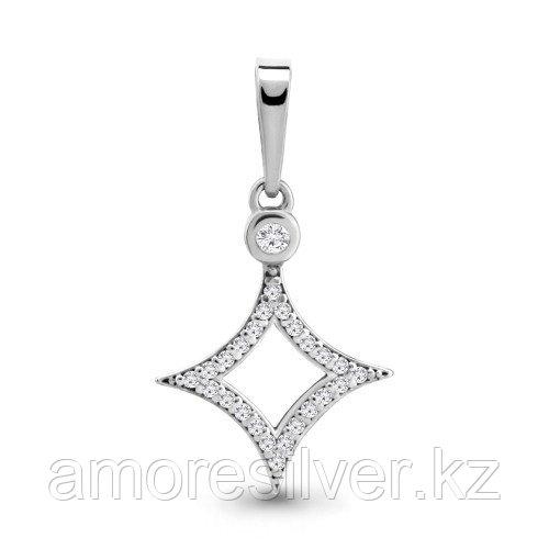 Подвеска Aquamarine серебро с родием, фианит, геометрия 24097А.5