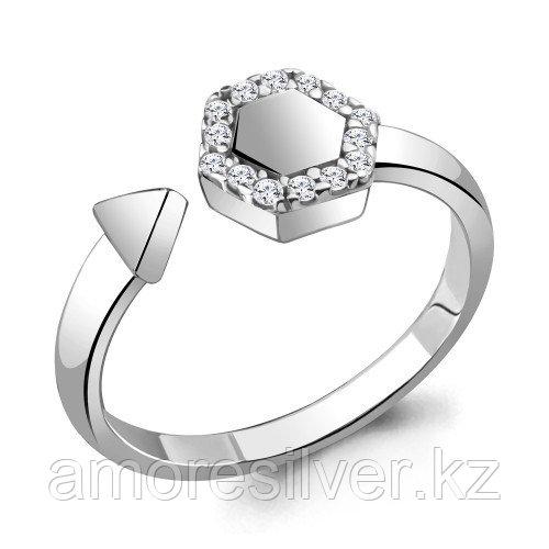 Кольцо Aquamarine серебро с родием, фианит, фантазия 68675А.5