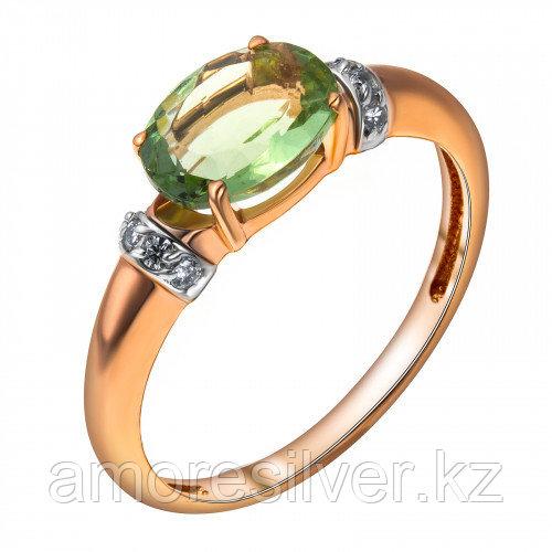 """Кольцо Teosa серебро с позолотой, фианит, """"halo"""" 1000-0455-GAM-z"""