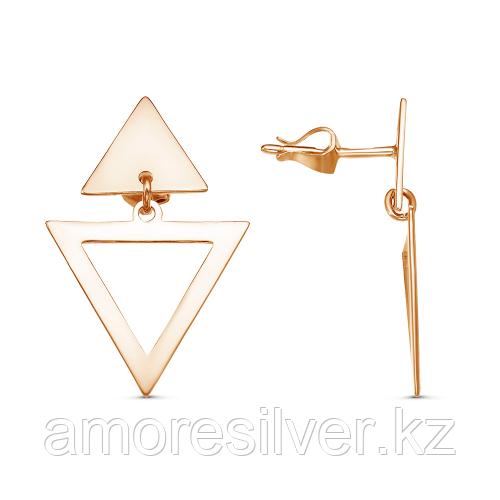 Серьги Красная Пресня серебро с позолотой, без вставок 33011345