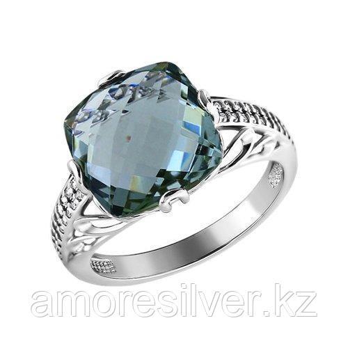 Кольцо SOKOLOV серебро с родием, кварц синт. фианит  92010694