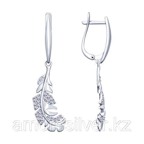 Серьги из серебра с фианитами    SOKOLOV 94023108