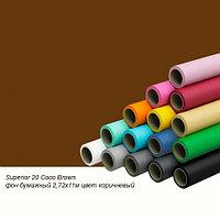 Фон бумажный Superior 20 Coco Brown 2,72x11м цвет коричневый