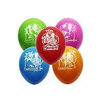 Воздушные шарики ВЕСЁЛАЯ ЗАТЕЯ 1111-0854(1111-0411) Фиксики 5 шт. Размер 30  см Латекс Цвета в ассортименте