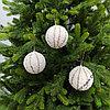 Шары для украшения новогодней ёлки или интерьера - 8 см (в упаковке 3 шт)
