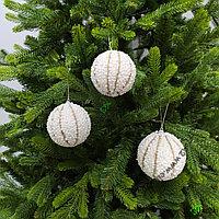 Шары для украшения новогодней ёлки или интерьера - 8 см (в упаковке 3 шт), фото 1