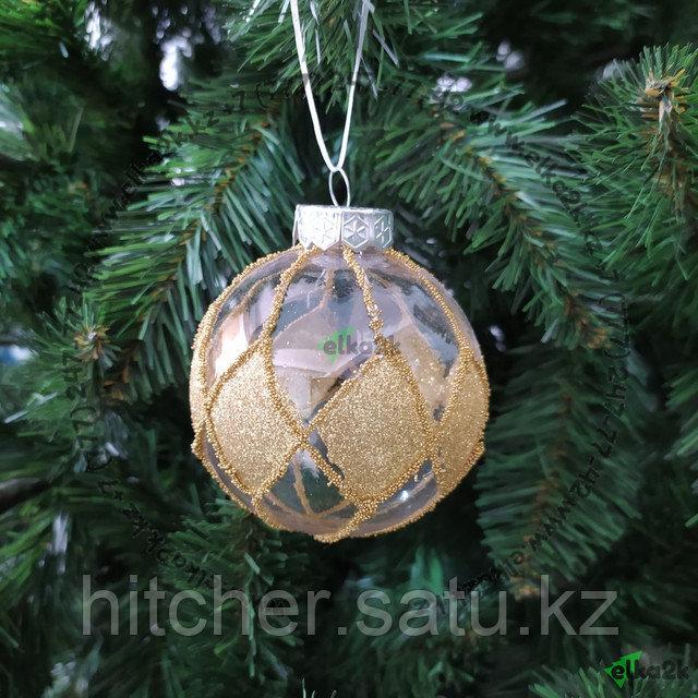 """Новогоднее украшение """"Шар"""" для оформления ёлки или интерьера - 10 см"""