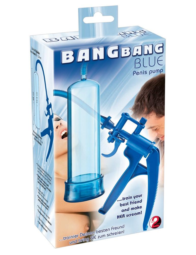 Помпа для пениса Bang Bang синяя