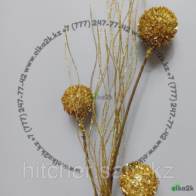 Золотая рождественская веткадля украшения новогодней ёлки или интерьера
