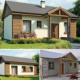 Каркасно модульные одноэтажные дома из ЛСТК