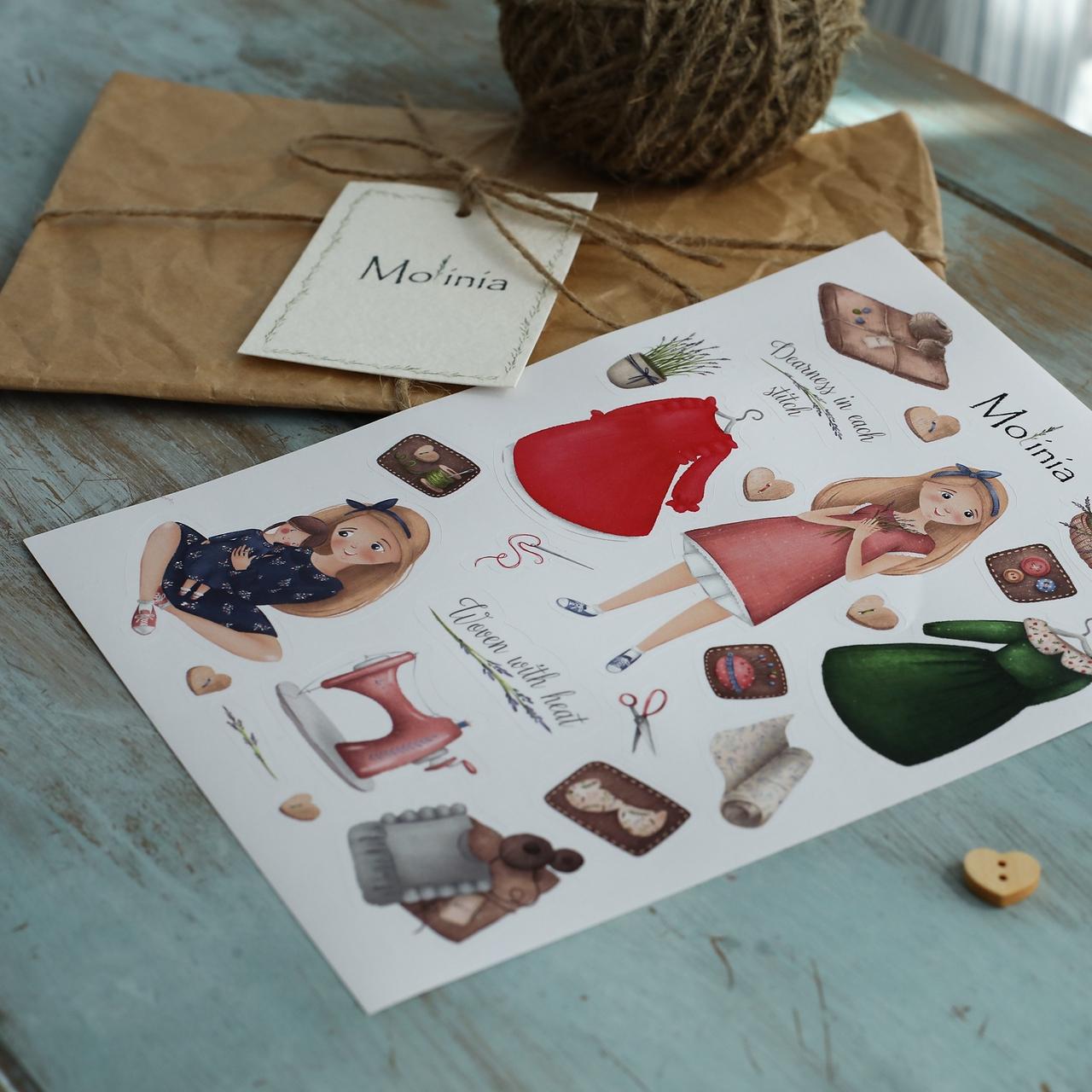 Льняное детское платье в ягодном цвете - фото 7