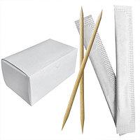 Россия Зубочистки отдельно упакованные бум бамбук 1000шт/уп белая упаковка