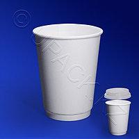 Виридо Стакан бумажный 350мл двухслойный белый 25 шт/уп