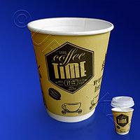Виридо Стакан бумажный 350мл двухслойный цветной 25 шт/уп Кофе Тайм