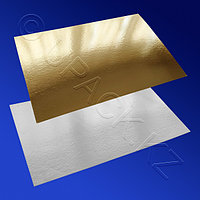 СБС НС Подставка п/торт 40,0х60,0смх1,8мм золотистая/белая прям