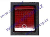 Выключатель одноклавишный 16A/250V с сигнальной лампой, широкий 66449