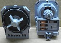 Насос сливной для стиральной машины ASKOLL 30W квадратный, 3 защелки + 1 винт, клеммы под фишку назад