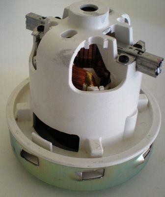 Двигатель пылесоса Kercher 1400W H-131,2 мм D-135,8 мм отверстия под обдув 11ME62