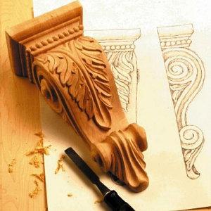 деревянные элементы для декорирования