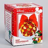 "Набор для творчества ""Новогодний шар"" Микки Маус с пайетками, фото 2"