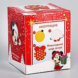 "Набор для творчества ""Новогодний шар"" Микки Маус с пайетками, фото 3"