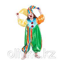 Карнавальный костюм «Клоун Фантик», комбинезон, шапка, носик, р. 28, рост 98 см