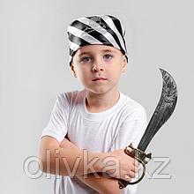 Набор пирата: сабля, бандана в чёрно-белую полоску с черепом, р. 50 × 50 см