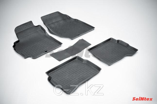 Резиновые коврики с высоким бортом для Nissan Almera classic (B10) 2006-2013, фото 2