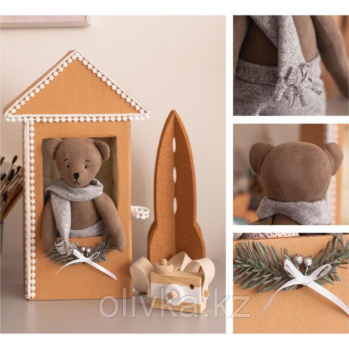 Мягкий мишка «Мартин» в домике, набор для творчества, 30 × 30 × 2 см