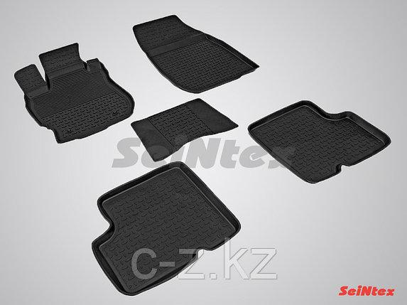 Резиновые коврики с высоким бортом для Nissan Almera IV 2013-н.в., фото 2