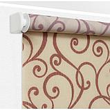 Рулонная штора «Ампель», 120 х 175 см, цвет бордо, фото 4