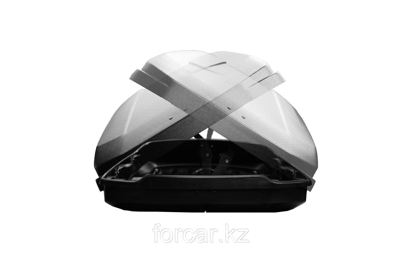 Бокс LUX IRBIS 206 черный глянцевый 470 л (206х75х36 см.) с двусторонним открыванием - фото 5