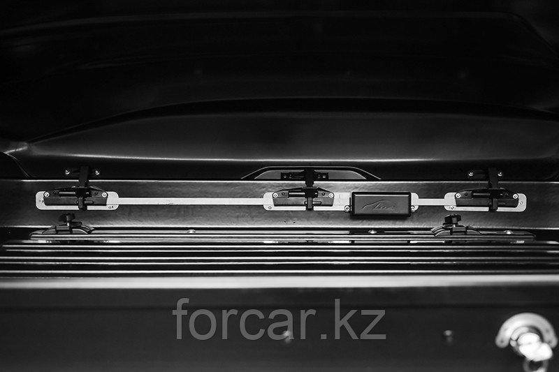 Бокс LUX IRBIS 206 черный глянцевый 470 л (206х75х36 см.) с двусторонним открыванием - фото 7