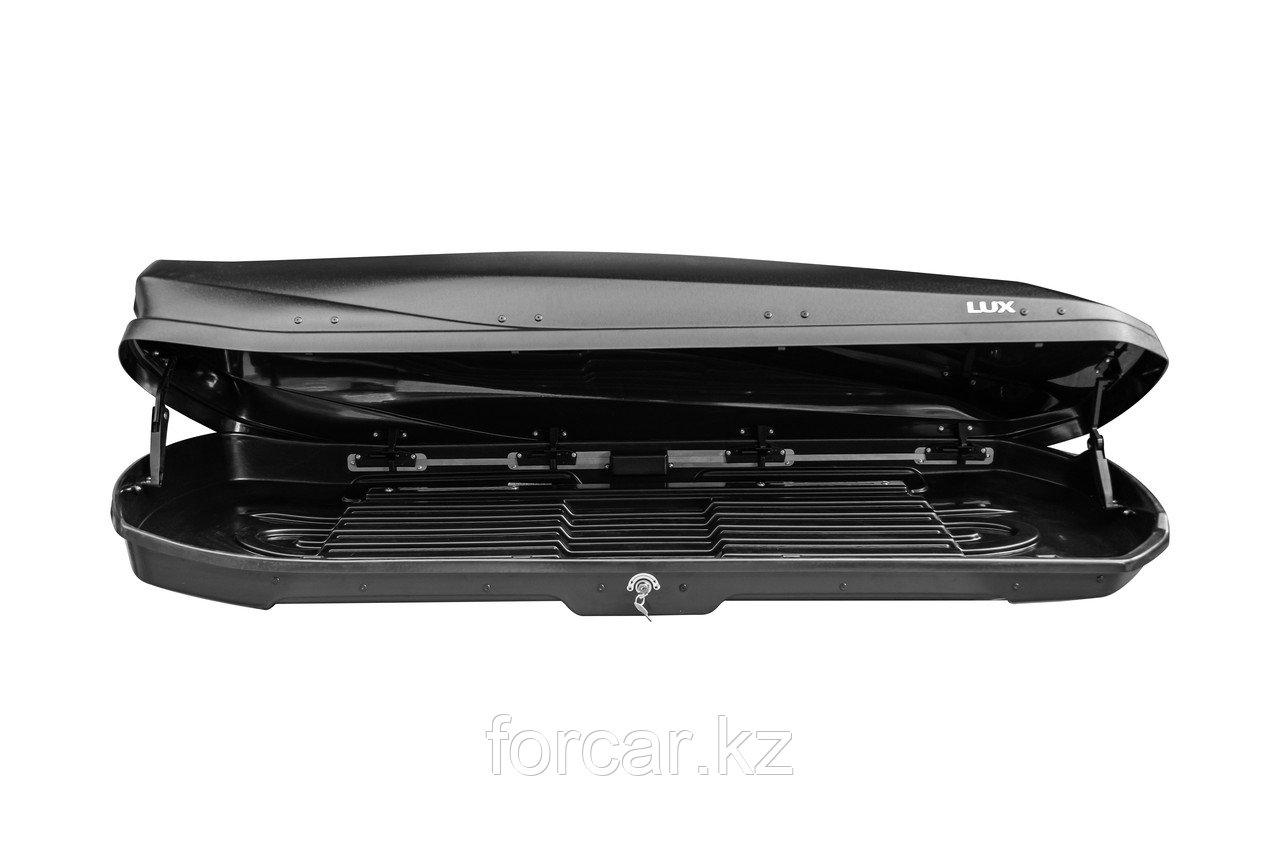 Бокс LUX IRBIS 206 черный глянцевый 470 л (206х75х36 см.) с двусторонним открыванием - фото 4