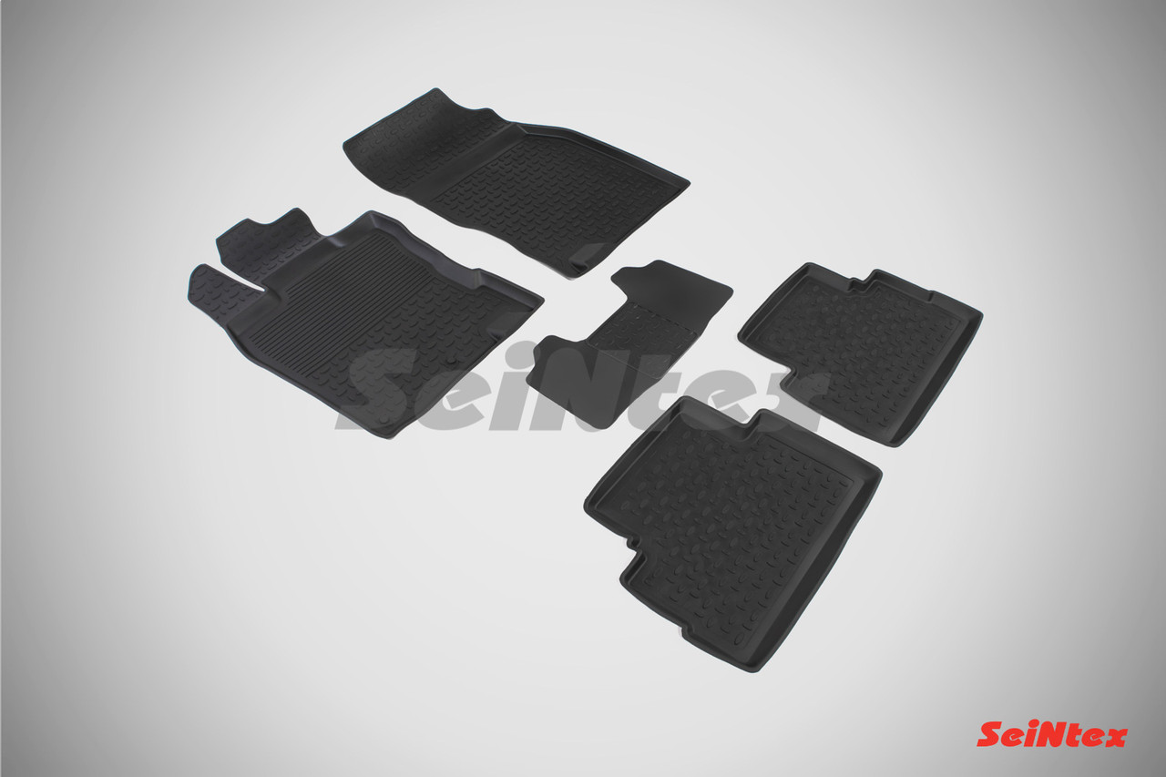 Резиновые коврики с высоким бортом для Nissan Qashqai II (английская сборка) 2014-2016