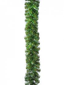 Гирлянда хвойная суперпушистая Звездная зеленая 270/20 см.