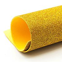 Фоамиран глиттерный, Золото светлое, формат А3 1 лист , Алматы